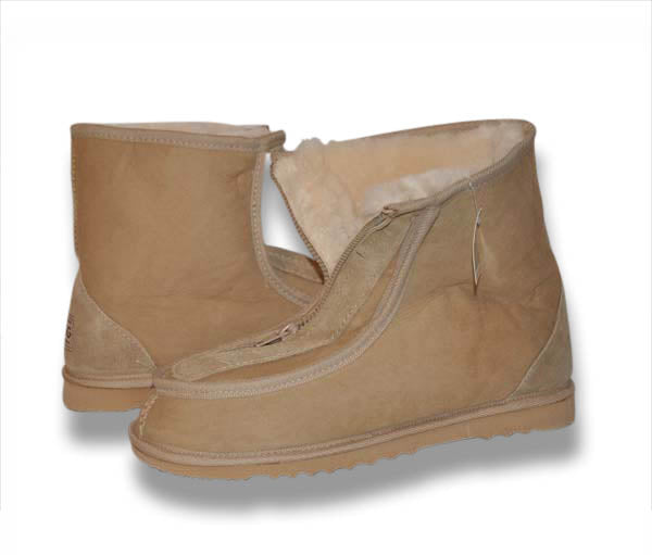 Men's Alpine Zip Front Ugg Boots - Tan