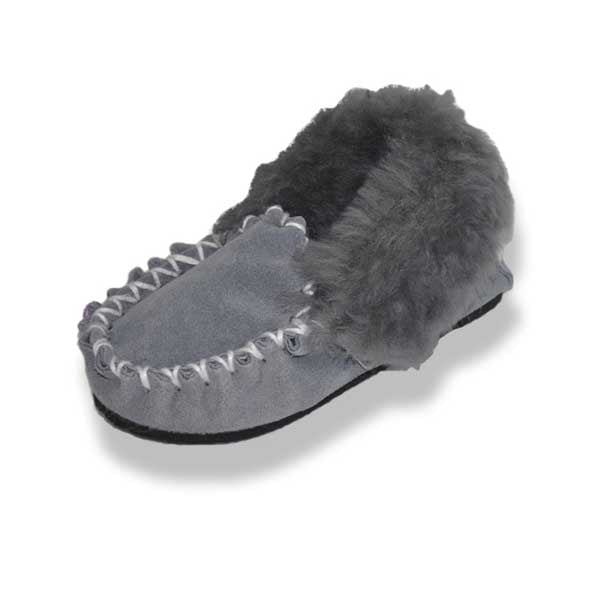 Kids Moccasins - Grey