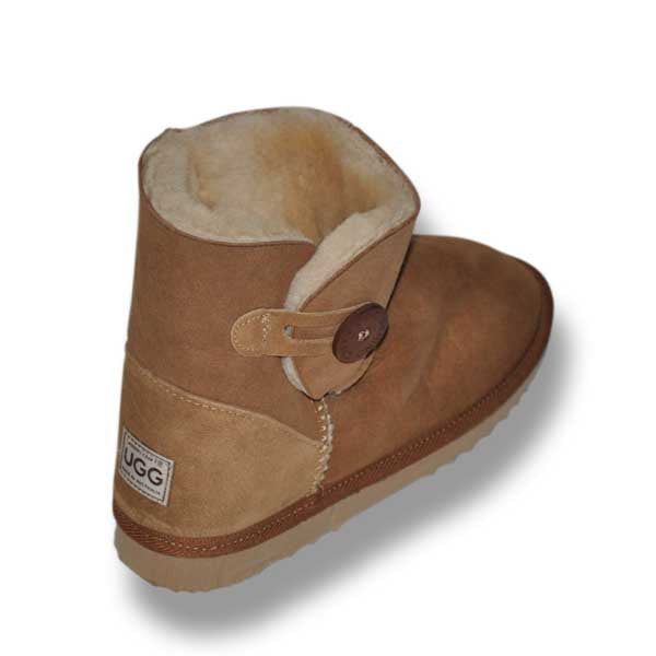 Mini One Button Ugg Boots - Brown