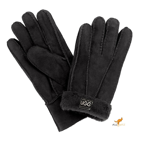 Australian Sheepskin Ugg Gloves Medium / Black