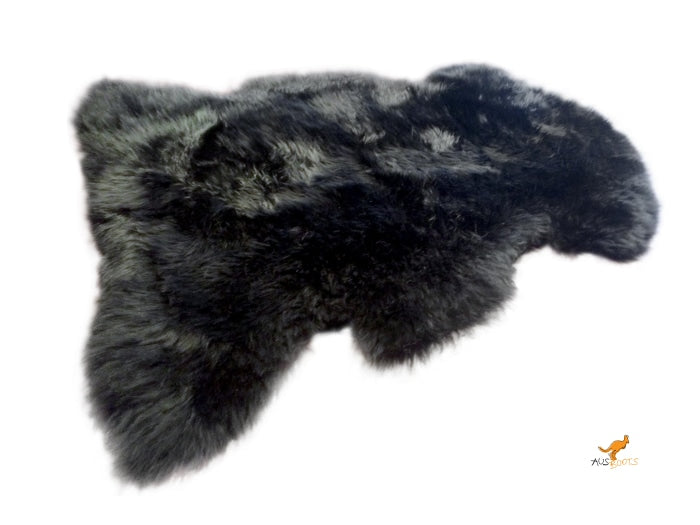 Sheepskin Rug - Tan Black Rugs