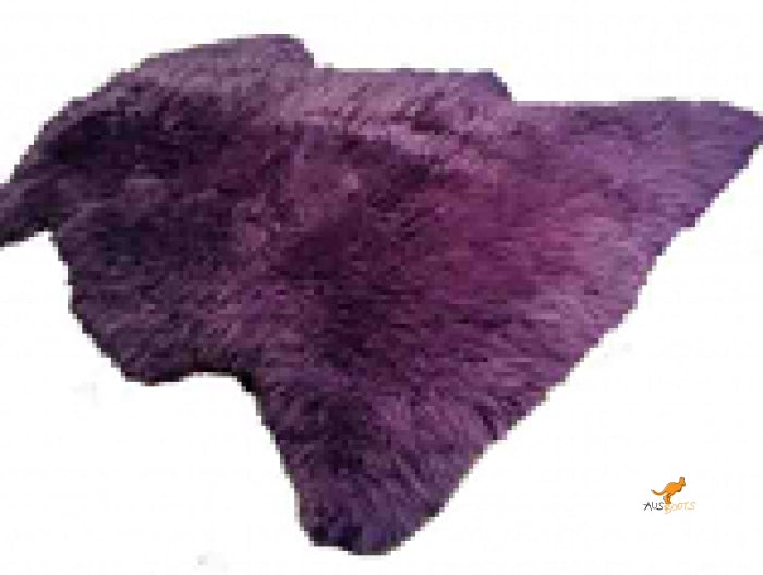 Sheepskin Rug - Tan Purple Rugs