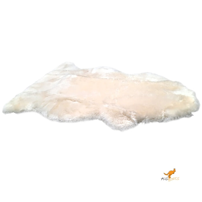 Sheepskin Rug - Tan White Rugs