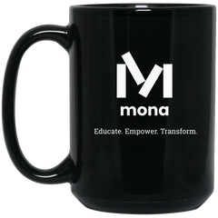 Mona 15 oz. Black Mug
