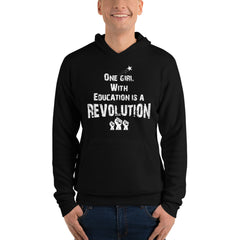 ONE GIRL WITH EDUCATION IS A REVOLUTION - Unisex hoodie