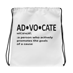 AD-VO-CATE Drawstring bag