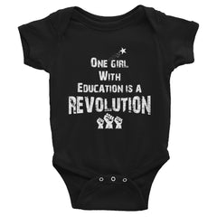 ONE GIRL WITH EDUCATION IS A REVOLUTION - Infant Bodysuit