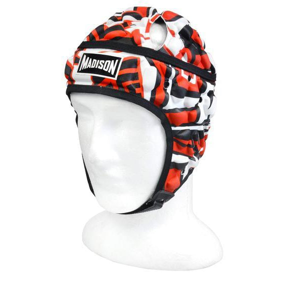 Madison Graffiti Headguard - Red/black Rugby League NRL - Sports Grade