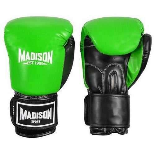 Madison Contender Boxing Gloves - Green Boxing - Sports Grade