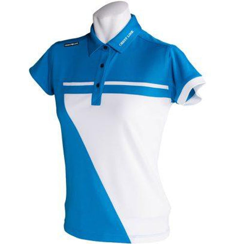Crest Link Ladies Golf Shirt – Blue/White XL - Sports Grade