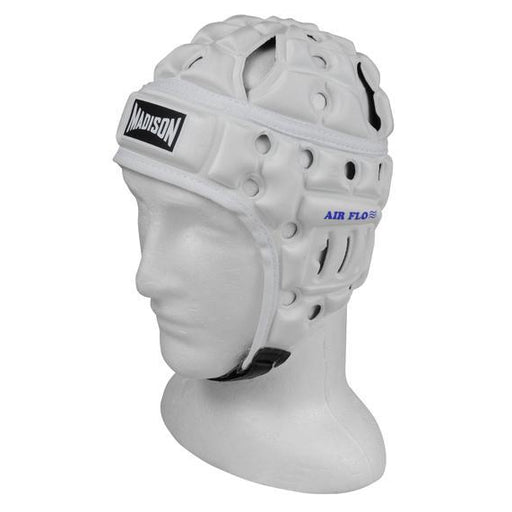 Madison Air Flo Headguard - White Rugby League NRL - Sports Grade
