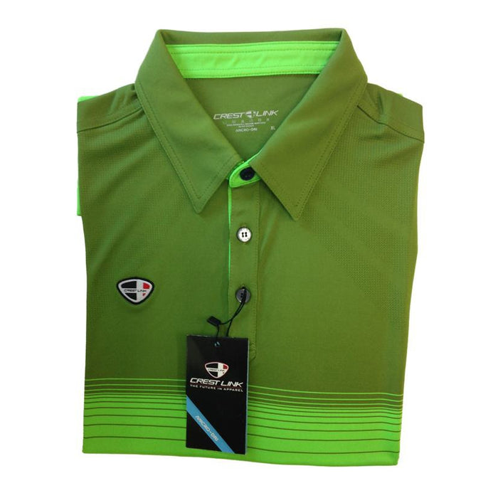 Crest Link Men's Golf Polo – 80-1159 Green - Sports Grade