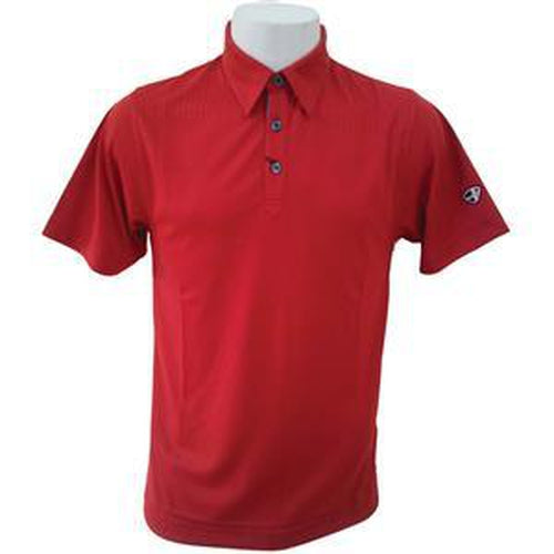 Crest Link Men's Golf Polo – 80-1163 Chilli Red - Sports Grade