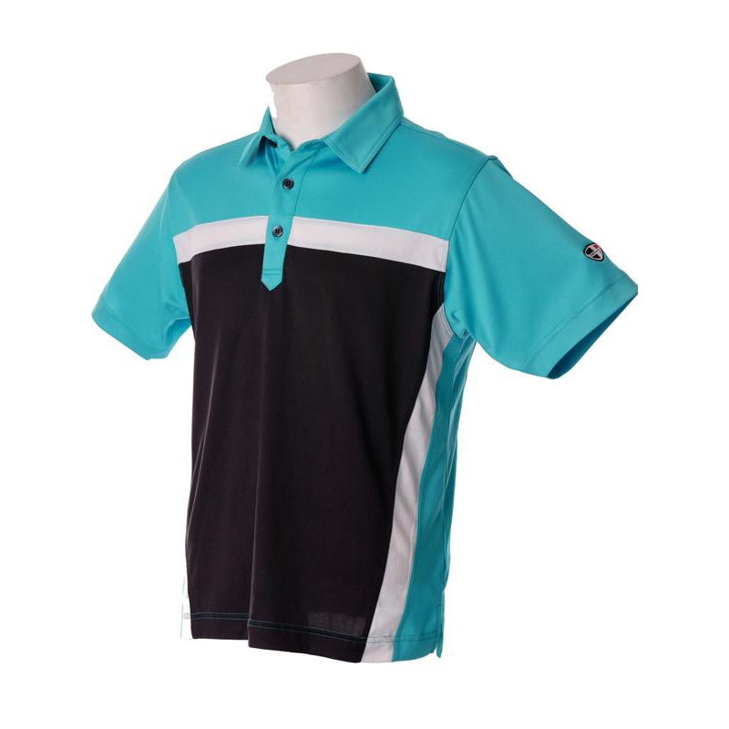 Crest Link Men's Golf Polo – 80-1211 Ocean Blue - Sports Grade