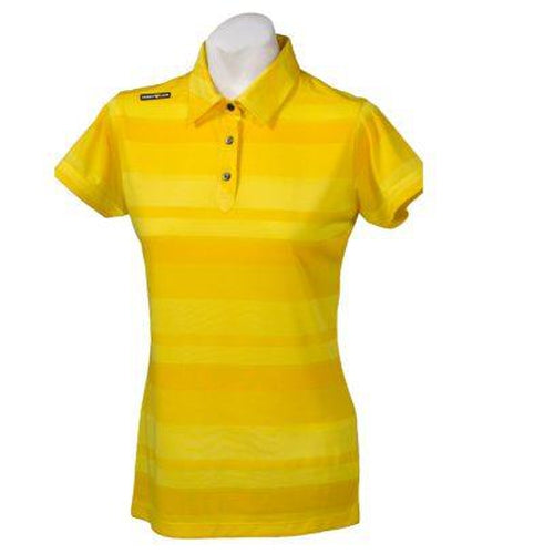 Crest Link Ladies Golf Shirt – Yellow – Large - Sports Grade