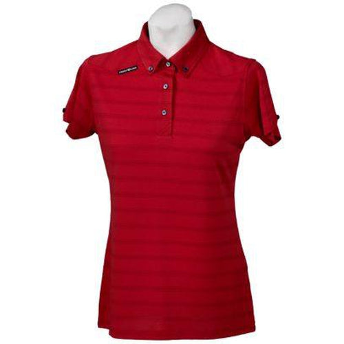 Crest Link Ladies Golf Shirt – Red - Sports Grade