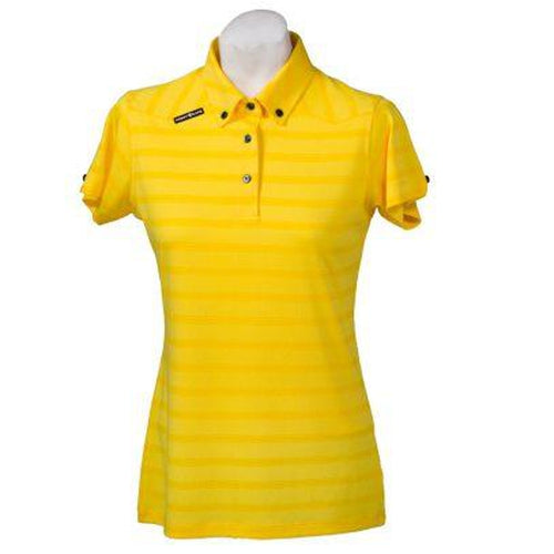 Crest Link Ladies Golf Shirt – Yellow – Small - Sports Grade