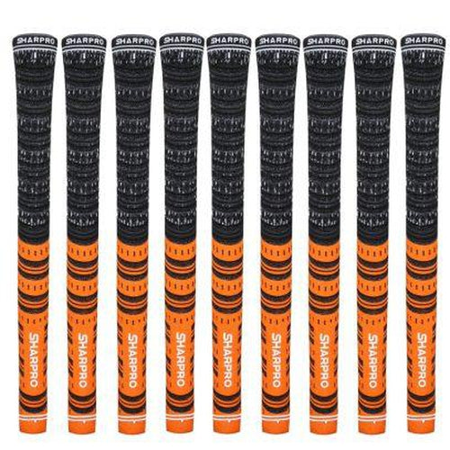 9 Shappro Dual Compound Golf Grips – Orange - Sports Grade