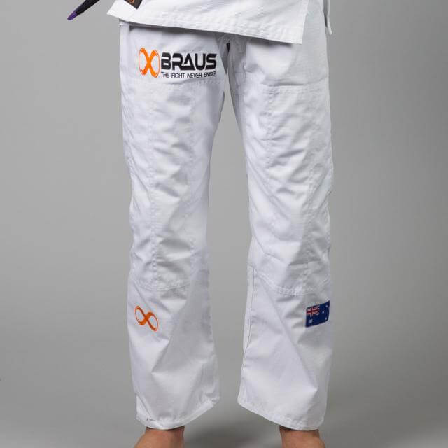 Braus Fight - White Jiu Jitsu Pants – Ripstop - Sports Grade