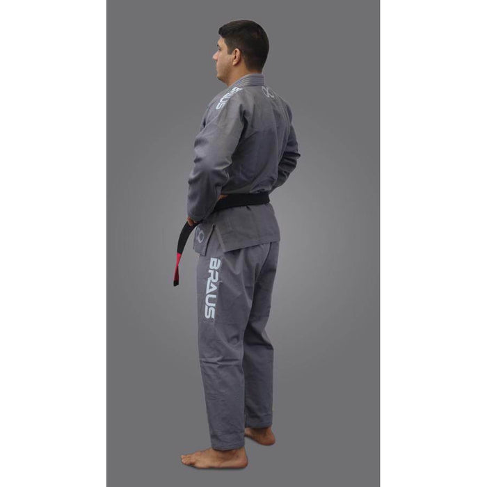 Braus Fight - Titanium – Grey Jiu Jitsu Gi - Sports Grade