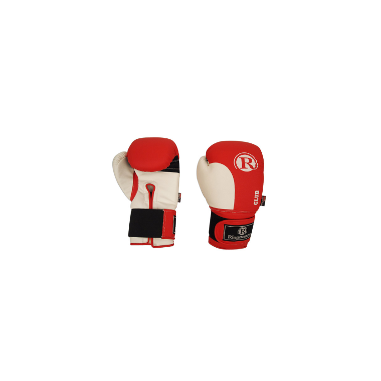Ringmaster Club Boxing Glove Promo Size Red / White - Sports Grade
