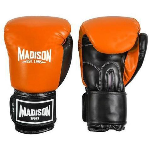 Madison Contender Boxing Gloves - Orange Boxing - Sports Grade