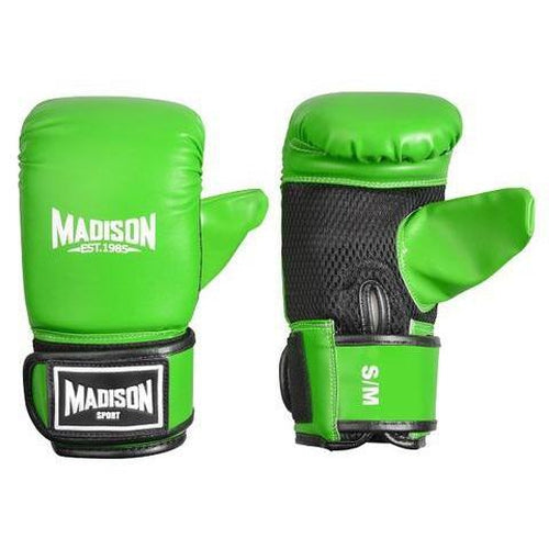Madison Contender Boxing Mitts - Green Boxing - Sports Grade