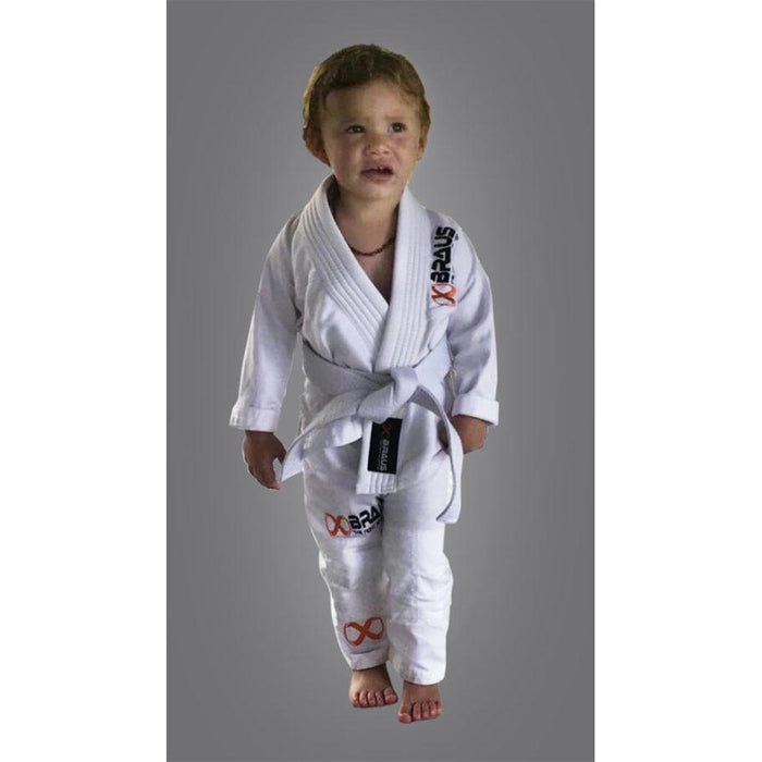 Braus Fight - White Pro Light Gi + Bag – Toddler (Under 3 Years Old) - Sports Grade