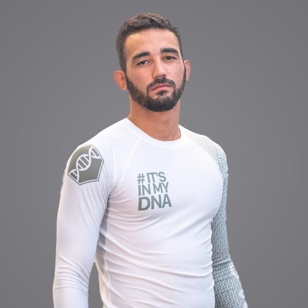 Braus Fight - Dna White Rash Guard – Long Sleeve - Sports Grade