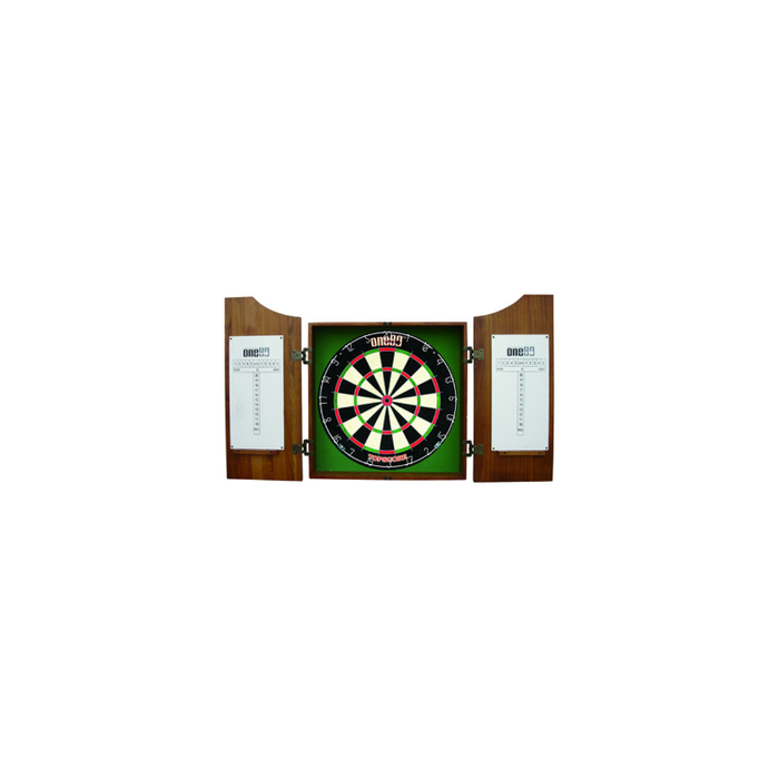 One80 Solid Wood Gable Dartboard Cabinet - Sports Grade