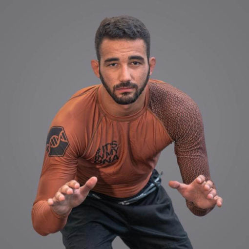 Braus Fight - Dna Brown Rash Guard – Long Sleeve - Sports Grade