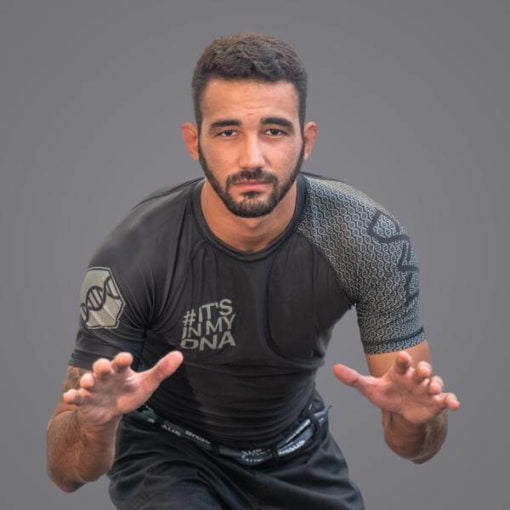 Braus Fight - Dna Black Rash Guard – Short Sleeve - Sports Grade