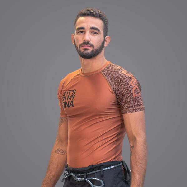 Braus Fight - Dna Brown Rash Guard – Short Sleeve - Sports Grade