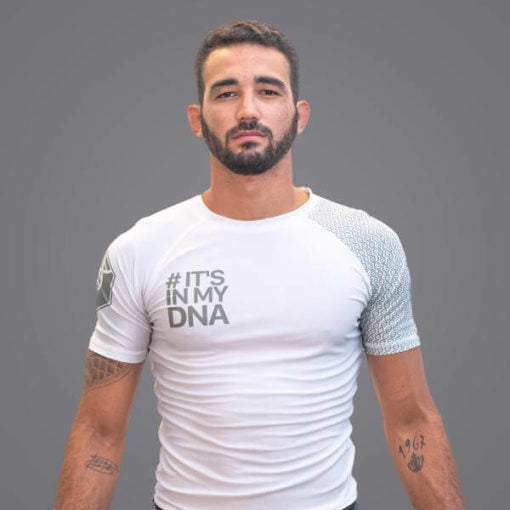 Braus Fight - Dna White Rash Guard – Short Sleeve - Sports Grade