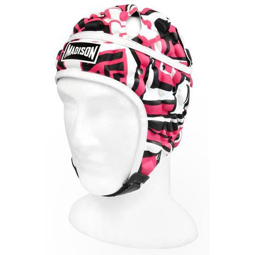 Madison Graffiti Headguard - Pink/Black Rugby League NRL - Sports Grade