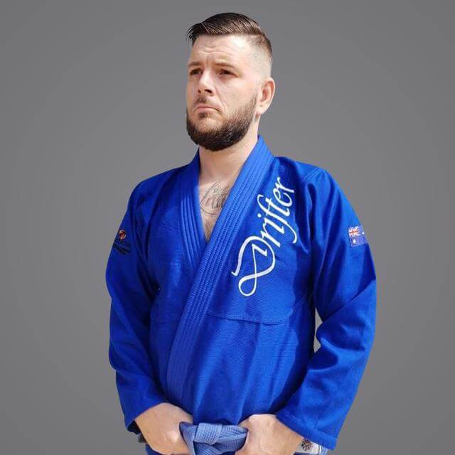 "Braus Fight - Braus v Free Rollers ""The Drifter"" – Blue Jiu Jitsu Gi - Sports Grade"