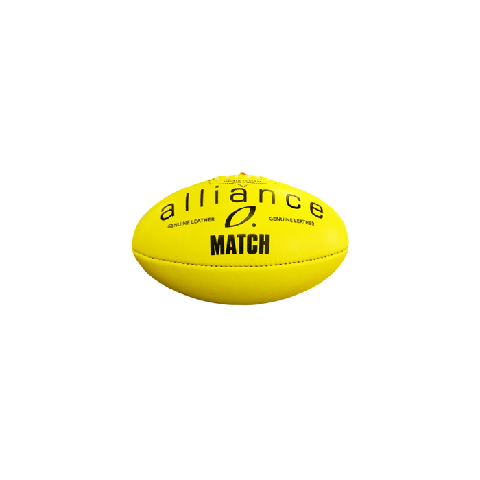 Alliance Leather Football Match - Yellow - Size 5 - Sports Grade