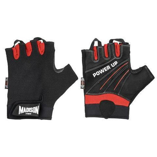 Madison Power Up Mens Fitness Gloves - Red - Sports Grade