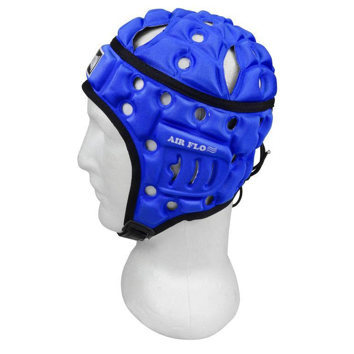 Madison Air Flo Neon Headguard - Blue Rugby League NRL - Sports Grade