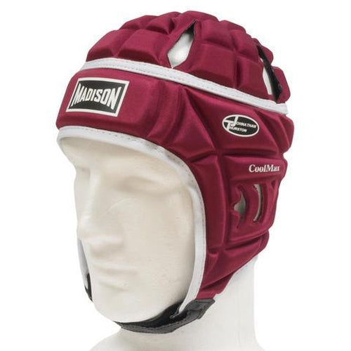 Madison Coolmax Headguard - Maroon Rugby League NRL - Sports Grade