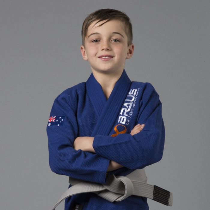 Braus Fight - Blue Pro Light Gi + Bag – Kids - Sports Grade