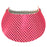 Ladies Golf Visor – Pink Bling - Sports Grade