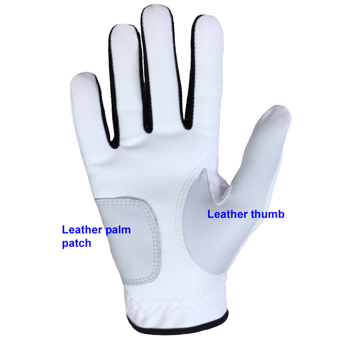 ONYX Ladies Golf Glove Right Hand White 3 Pack - Sports Grade