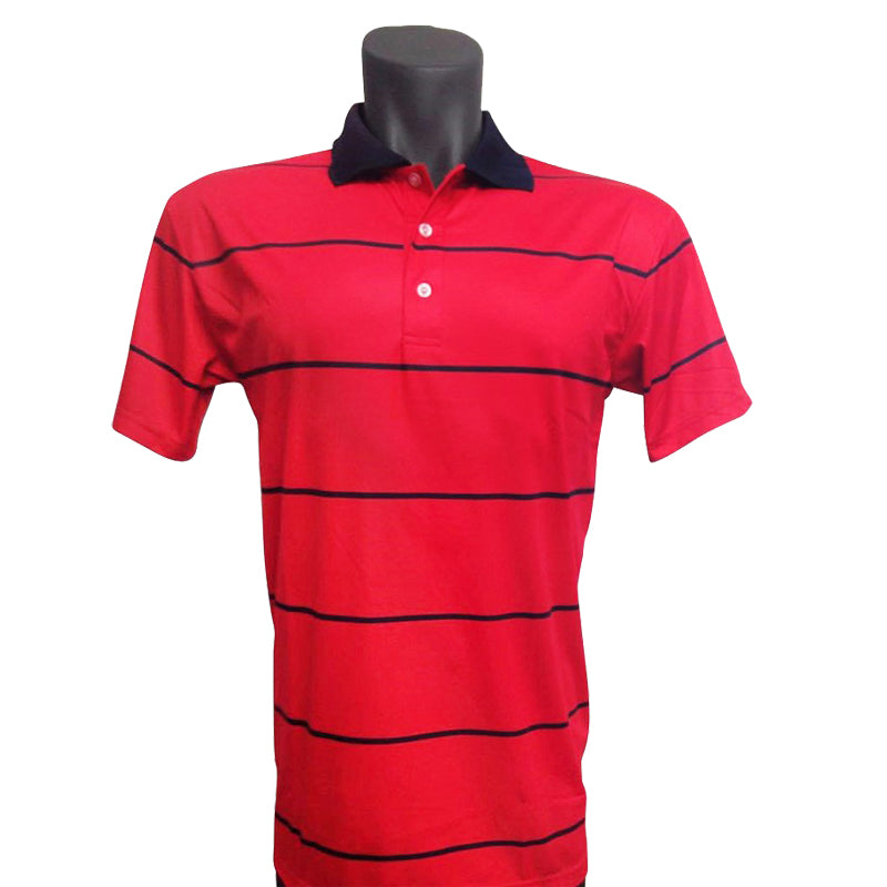 Onyx Mens Golf Shirt – Byron Red – Large - Sports Grade