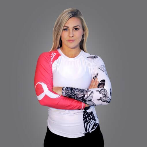 Braus Fight - The Butterfly Rash Guard – Long Sleeve - Sports Grade