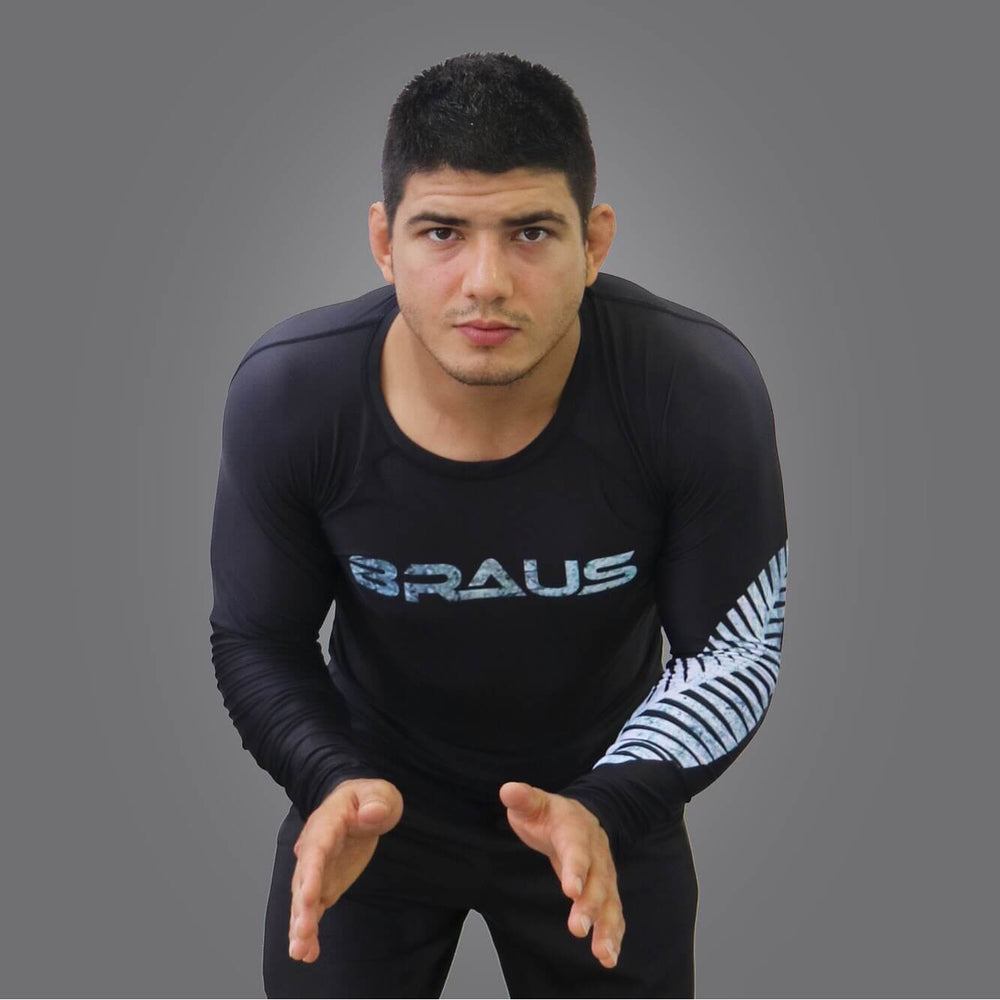 Braus Fight - All Blacks Rash Guard – Long Sleeve - Sports Grade