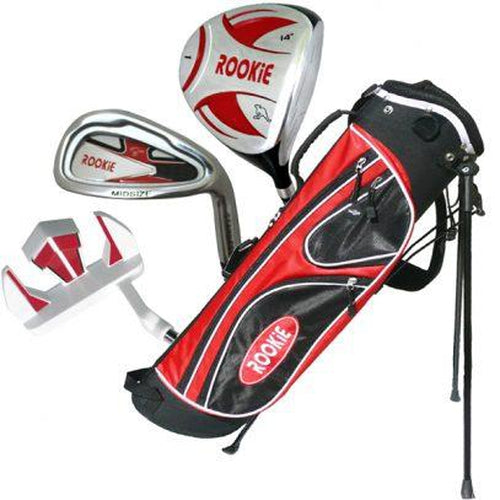 Rookie Junior Golf Set RH | 4 Pce Red for 10 Yrs & Over - Sports Grade