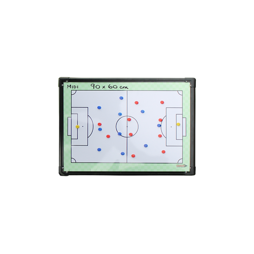 Diamond Coaches Tactic Board - Midi 90 X 60cm - Two Side Pitch - Sports Grade
