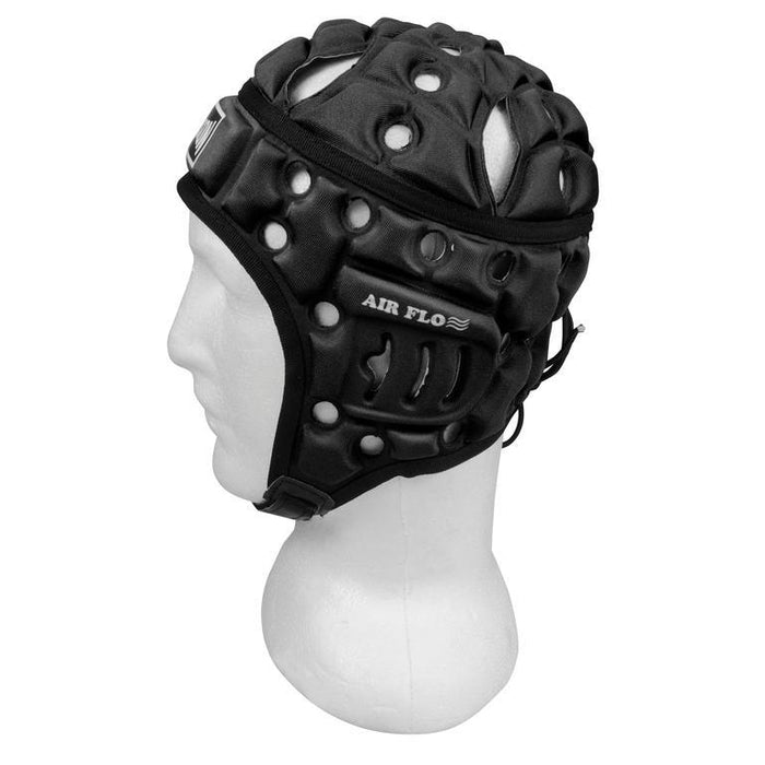 Madison Air Flo Headguard - Black Rugby League NRL - Sports Grade