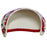 Ladies Golf Visor – Splash of Red - Sports Grade